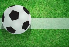 Balón de fútbol del vector en el campo libre illustration