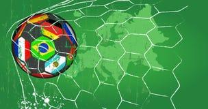 Balón de fútbol/ejemplo del fútbol, vector sucio del estilo Fotografía de archivo