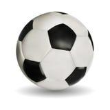 Balón de fútbol en blanco Imagenes de archivo