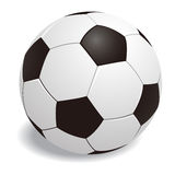 Balón de fútbol en el vector blanco del fondo Foto de archivo