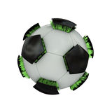 Balón de fútbol herboso. stock de ilustración