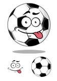 Balón de fútbol o del fútbol de la historieta Fotografía de archivo libre de regalías