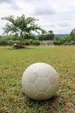 Balón de fútbol plástico Imágenes de archivo libres de regalías