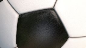 Bal?n de f?tbol - primer del objeto del deporte 3D, animado en la pantalla verde metrajes