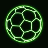 balón de fútbol que brilla intensamente Fotos de archivo