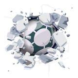 Balón de fútbol que golpea la pared entonces quebrada - libre illustration