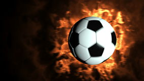 Balón de fútbol que vuela a la cámara libre illustration