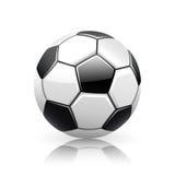 Balón de fútbol realista del vector Fotografía de archivo libre de regalías