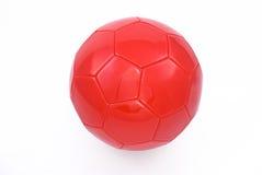 Balón de fútbol rojo Foto de archivo libre de regalías
