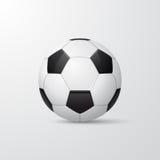 Balón de fútbol tradicional Ilustración del vector Imagen de archivo
