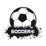 Balón de fútbol un símbolo en grunge del estilo Foto de archivo libre de regalías