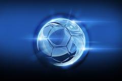 Balón de fútbol vidrioso ilustración del vector