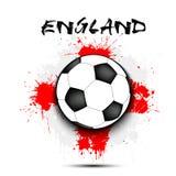 Balón de fútbol y bandera de Inglaterra ilustración del vector