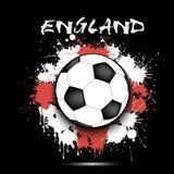 Balón de fútbol y bandera de Inglaterra libre illustration