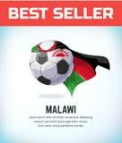 Bal?n del f?tbol o de f?tbol de Malawi Equipo nacional del f?tbol Ilustraci?n del vector stock de ilustración