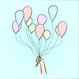Balões à disposição Foto de Stock