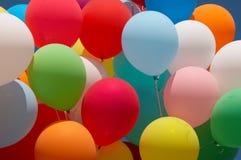 Balões 1 da cor imagens de stock