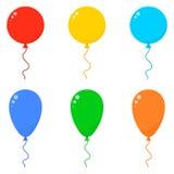 Balões ajustados do ícone Fotografia de Stock
