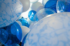 Balões azuis Fotos de Stock Royalty Free