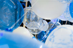 Balões azuis Foto de Stock Royalty Free