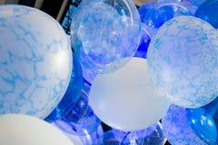Balões azuis Fotografia de Stock