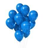 Balões azuis isolados no branco Imagem de Stock