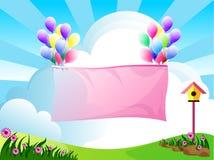 Balões bonitos ilustração stock