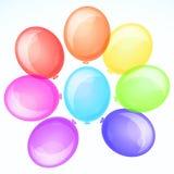 Balões bonitos do partido. Fotografia de Stock