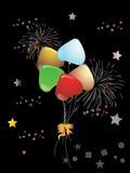 Balões coloridos bonitos Ilustração do Vetor