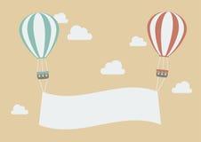 Balões coloridos com bandeira ilustração stock