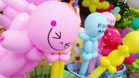 balões coloridos com cara do sorriso Fotografia de Stock