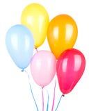 Balões coloridos do aniversário Imagem de Stock