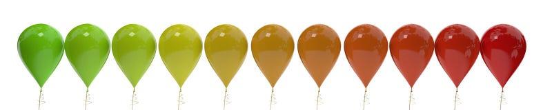 Balões coloridos do fundo, rendição 3d ilustração royalty free