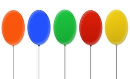 Balões coloridos em branco Foto de Stock Royalty Free
