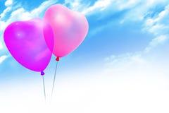 Balões coloridos em uma forma do coração Imagens de Stock Royalty Free