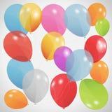 Balões coloridos, ilustração do vetor. Eps 10 Fotografia de Stock Royalty Free