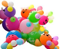 Balões coloridos isolados Imagem de Stock Royalty Free