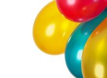 Balões coloridos isolados no branco Imagem de Stock Royalty Free