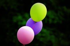 Balões coloridos no primeiro plano Fotografia de Stock Royalty Free