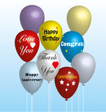 Balões coloridos no vetor Imagens de Stock Royalty Free