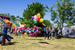 Balões coloridos para a venda Foto de Stock Royalty Free