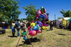 Balões coloridos para a venda Foto de Stock