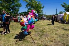 Balões coloridos para a venda Fotos de Stock