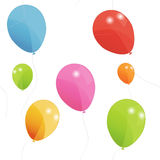 Balões coloridos teste padrão sem emenda, vetor Fotos de Stock Royalty Free