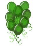 Balões com Confetti para o partido do dia do St. Patricks ilustração royalty free
