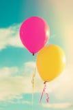Balões contra o céu Foto de Stock