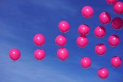 Balões cor-de-rosa Fotografia de Stock Royalty Free