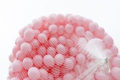 Balões cor-de-rosa contra o câncer da mama fotografia de stock