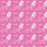 Balões cor-de-rosa do coração Imagens de Stock Royalty Free