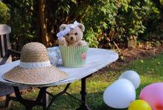 Balões da celebração do aniversário do luxuoso do jardim da peluche Fotos de Stock Royalty Free